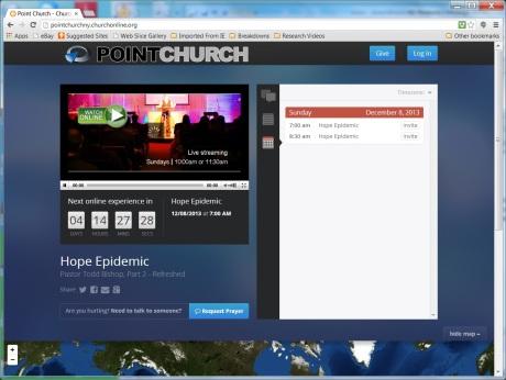 Church Online Platform POINT CHURCH, New York