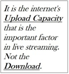 Internet Capacity and Bitrate Settings quote